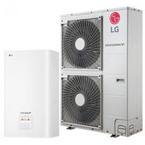 LG hőszivattyú 16 kW osztott kivitelezésű 1Ø  HN1616 + HU161