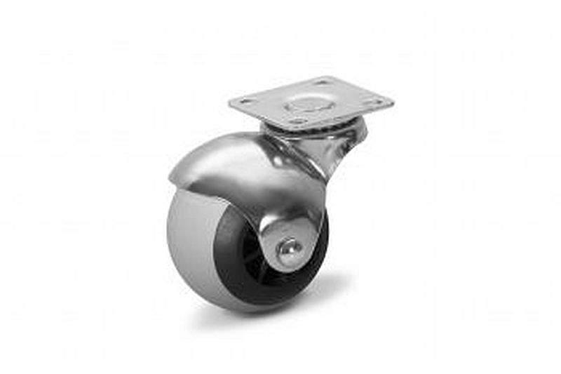 Bútorgörgő, fém test, gumis futófelület, kerék 50 mm