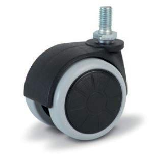 Bútorgörgő forgó, M8 menetes gumis futó felület