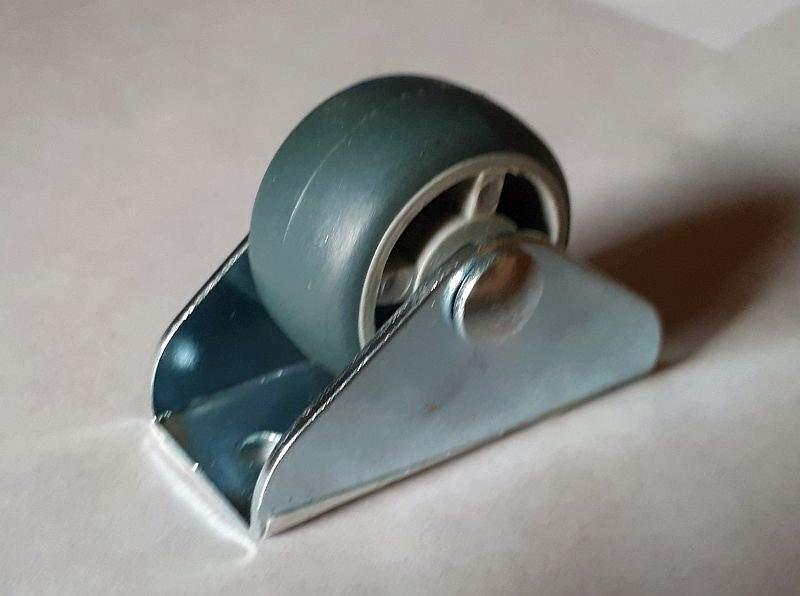Fiók, vagy ágyneműtartó görgő 25 mm gumis futófelület