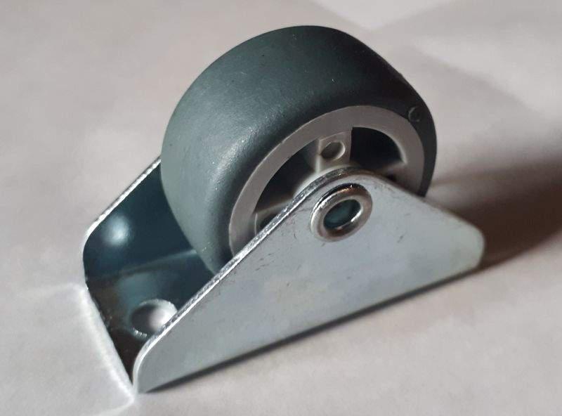 Fiók vagy ágyneműtartó görgő, 30 mm gumis