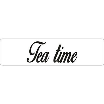 3D stencil, 'Tea time'. Mérete: 50x195x1 mm.