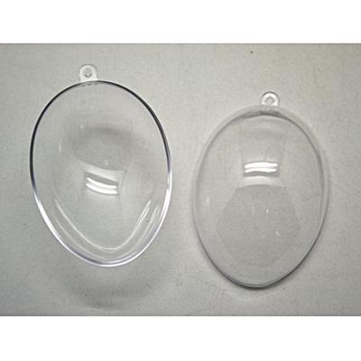Átlátszó akril tojás, mérete: 57x80 mm
