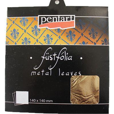 Dekorfólia arany, 5 lap/csomag. Mérete: 140x140 mm