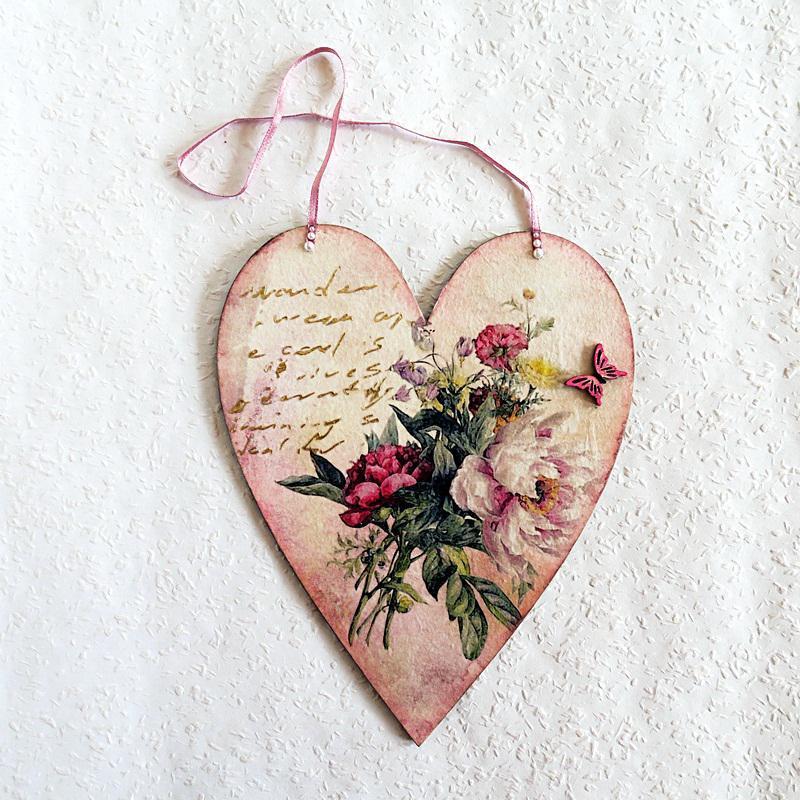 Egy szív hercegnőknek – falikép,mérete: 16x20 cm