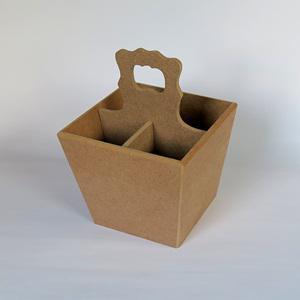 Evőeszköz tartó, mérete: 15,5x15,5x22 cm