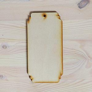 Fa tábla, mérete: 8x16 cm