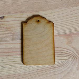 Fa tábla scrabook, mérete: 5,5x8,5 cm