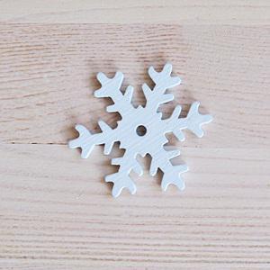 Fehér fa hókristály, mérete: 5,5 cm