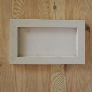 Fehér fakeret, mérete: 25x15x1,3 cm