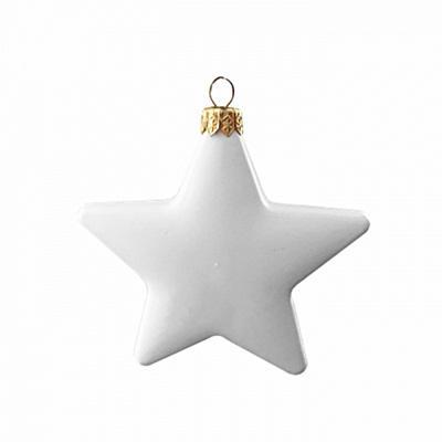 Fehér műanyag csillag, mérete: 11 cm