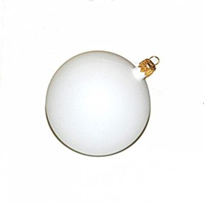 Fehér műanyag gömb, mérete: 9 cm