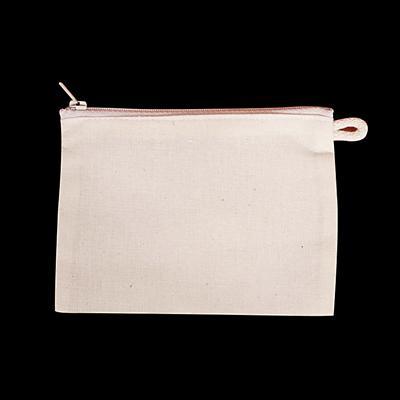 Felül cipzáras papírzsepi tartó, natúr. Mérete: 150x110 mm