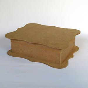 Hullámos tetejű doboz, mérete: 20x29x8 cm