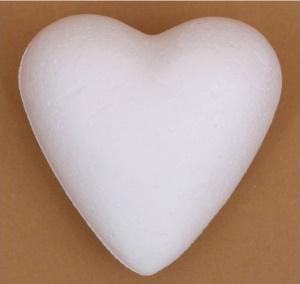 Hungarocell (polisztirol) szív, mérete: 7 cm