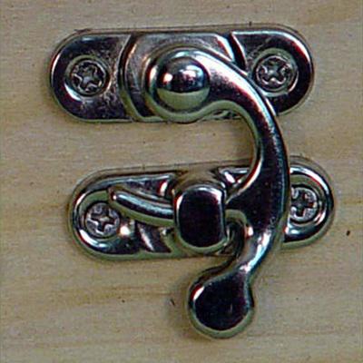 Íves csatt, ezüst (csavar nélkül). Mérete: 28x20 mm