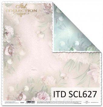Kétoldalas scrabook papír, mérete. 31,5x32,5 cm