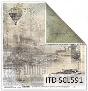Kétoldalas scrabook papír, mérete: 31,5x32,5 cm