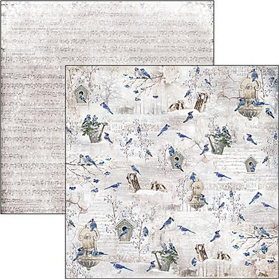 Kétoldalas scrapbook papír - Blue Jay