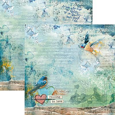 Kétoldalas scrapbook papír - Falling in love