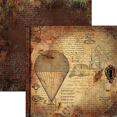 Kétoldalas scrapbook papír - Le macchine volanti