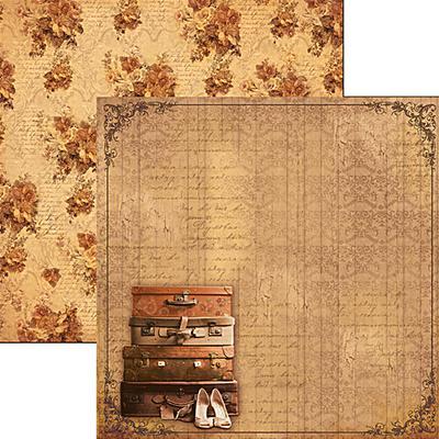 Kétoldalas scrapbook papír - Sweet November