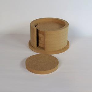 Kör alakú poháralátét, mérete: 13x13x7 cm