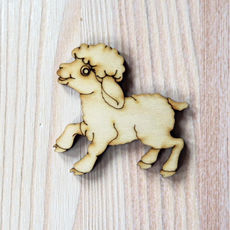 Natúr fa bárány, mérete: 50x50 mm