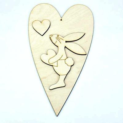 Nyuszifiú+szív. Mérete: 140x250 mm