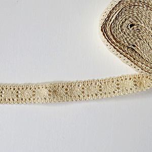 Pamutcsipke ekrü, szélessége: 2,5 cm