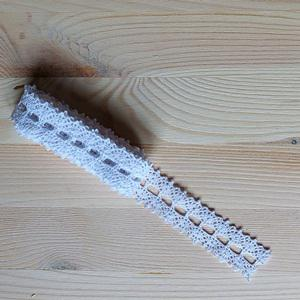 Pamutcsipke fehér, mérete: 2,5cm x 2 m