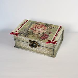 Párizsi álom - doboz. Mérete: 15x10x5,5
