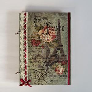 Párizsi álom - fa fedeles füzet. Mérete: 13x18 cm