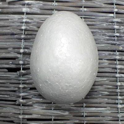 Polisztirol (hungarocell) tojás, mérete: 9 cm
