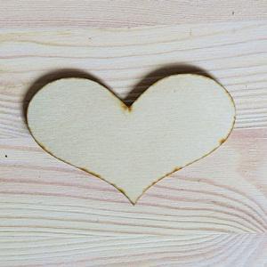 Romantik szív, mérete: 9x6 cm