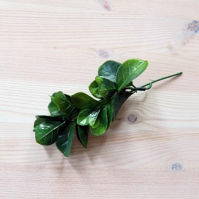 Sötétzöld babérmeggy, mérete: 14 cm (teljes hossza 18,5 cm)