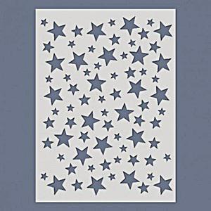 Stencil - csillagok. Mérete: 14,5x20 cm