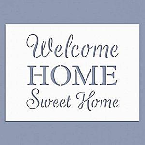Stencil - Home sweet home, mérete: 14,5x20 cm