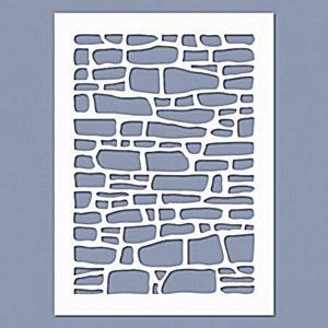 Stencil - Kőfal, mérete: 145x200 mm