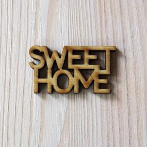 Sweet Home felirat, natúr. Mérete: 4,5x2,4 cm