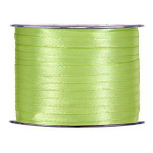 Szaténszalag, világos zöld, mérete: 3mmx1m