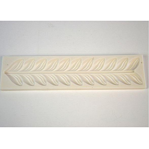 Szilikon formázó, levél sorminta, mérete: 245x60 mm