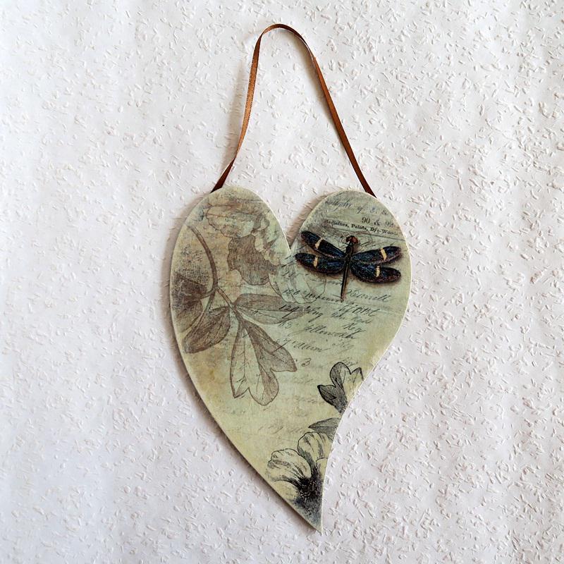 Szitakötőálom – falikép, mérete: 14x20 cm