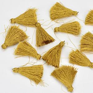 Textilbojt, arany. Mérete: 4,5 cm