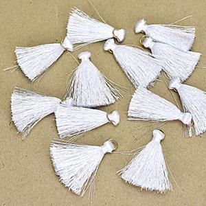Textilbojt, fehér. Mérete: 4,5 cm