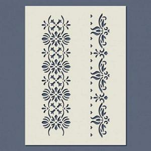 Stencil - sorminta 01, mérete: 14,5x20 cm