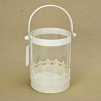 Üveges lámpás, mérete: 100x130 mm, fülével együtt magassága: 205 mm