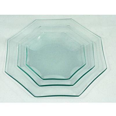 Üvegtál, nyolcszögletű, 23 cm