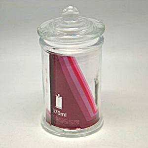 Üvegtároló aromazárós gömb kupakkal, 370ml. Mérete: 7,8x14 cm