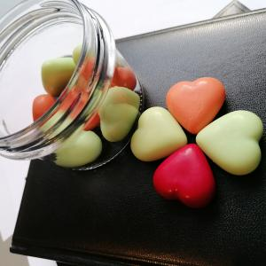Illatos szívek  - illatviasz választható illatokban kis kiszerelés